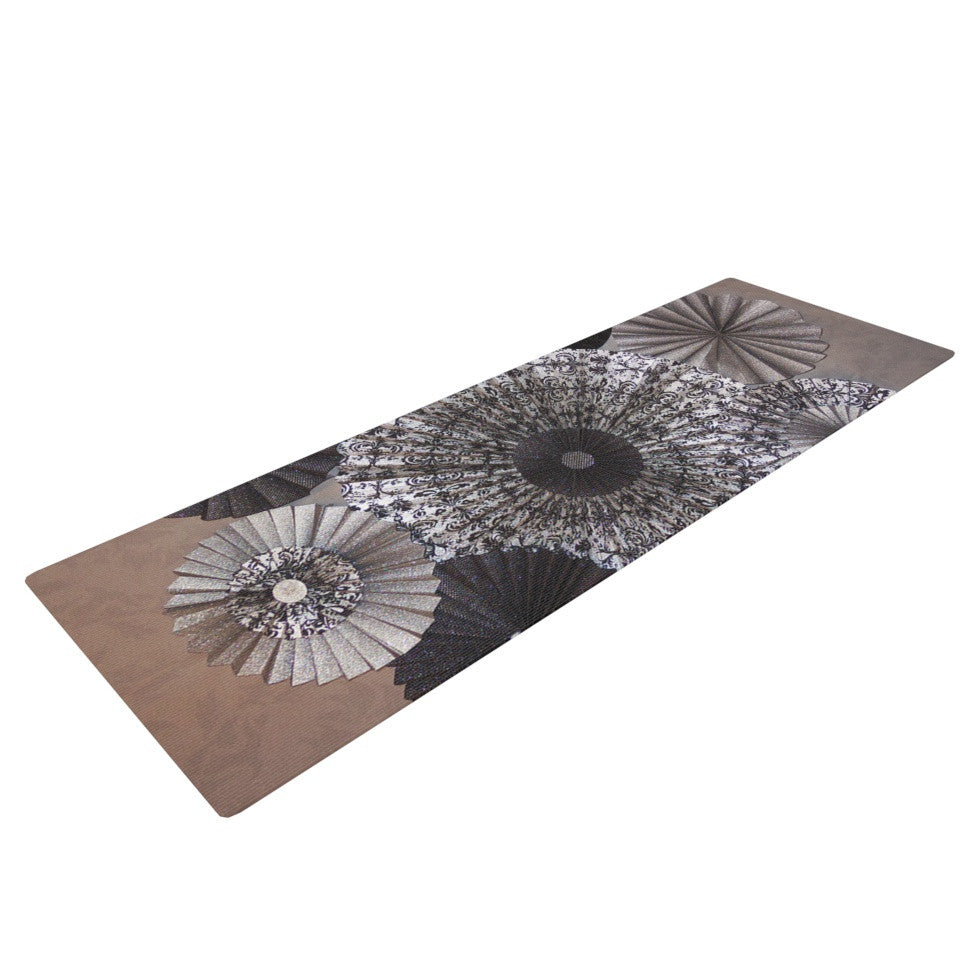 "Heidi Jennings ""Shadows"" Dark Circles Yoga Mat - KESS InHouse  - 1"