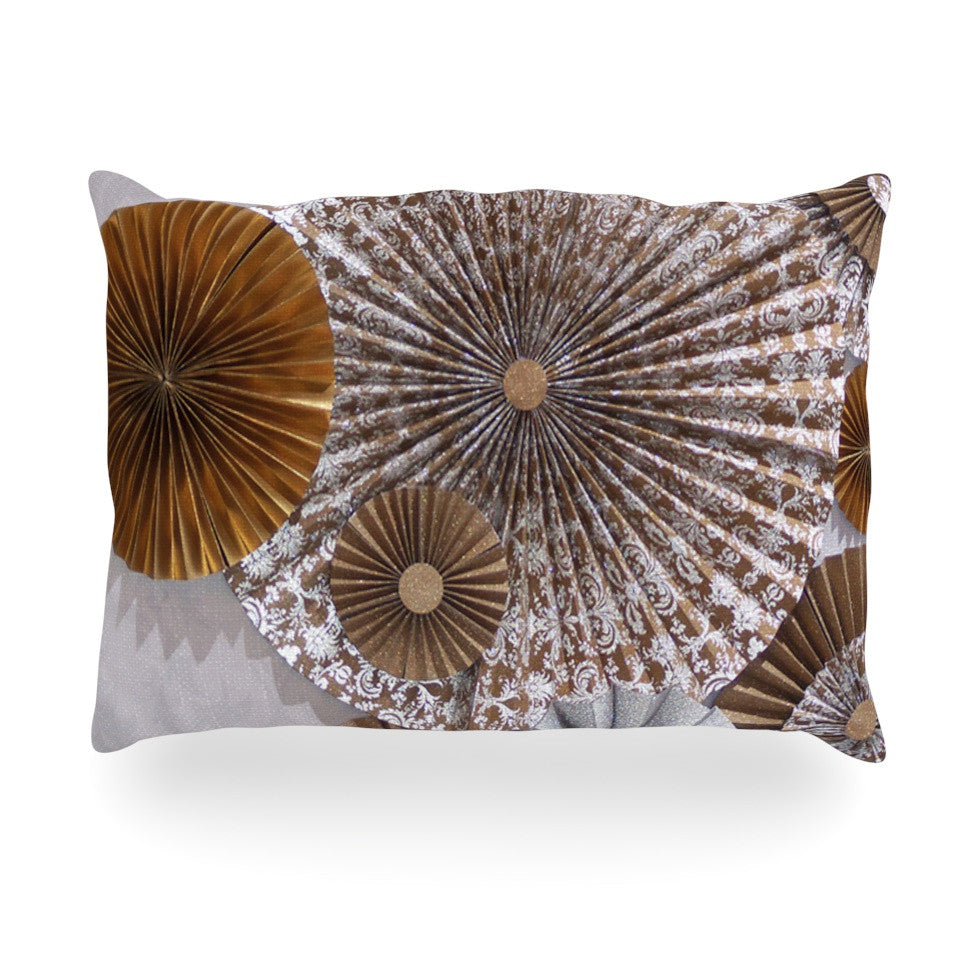 "Heidi Jennings ""Venice"" Brown White Oblong Pillow - KESS InHouse"