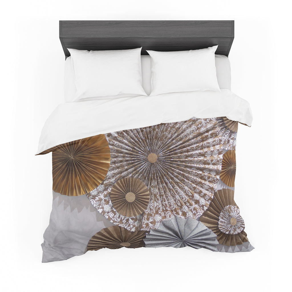 "Heidi Jennings ""Venice"" Brown White Featherweight Duvet Cover"