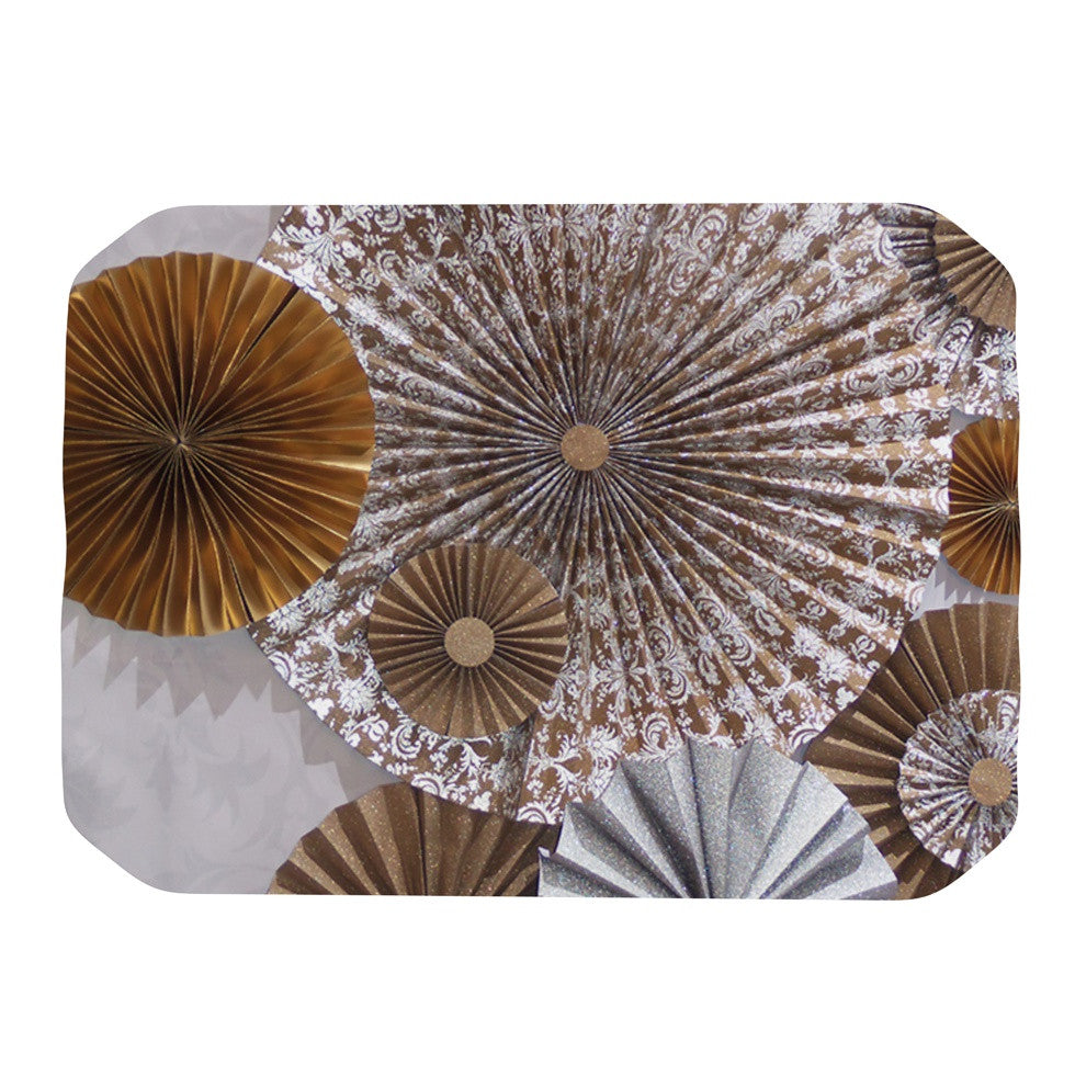 "Heidi Jennings ""Venice"" Brown White Place Mat - KESS InHouse"