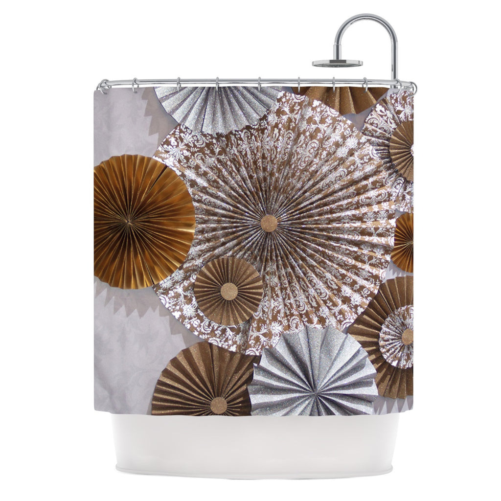 "Heidi Jennings ""Venice"" Brown White Shower Curtain - KESS InHouse"
