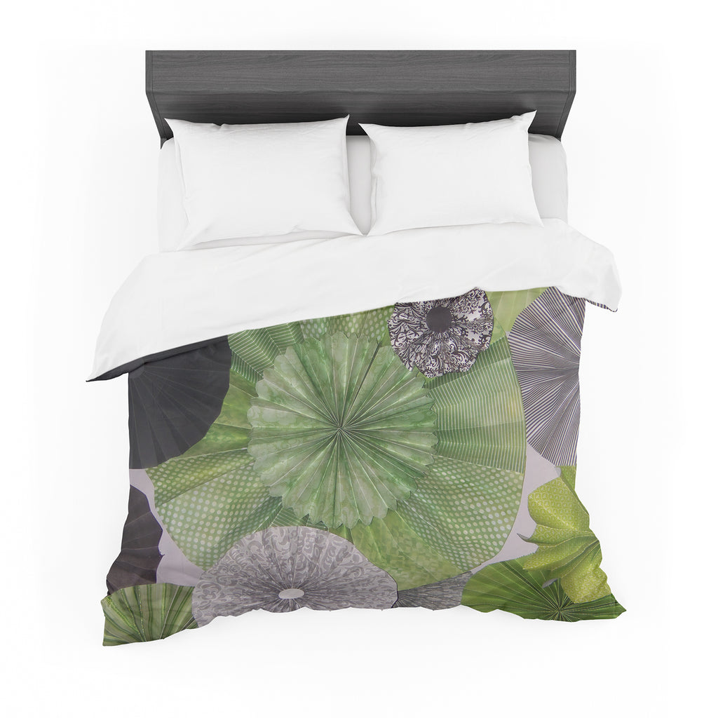 "Heidi Jennings ""Serenity"" Green Grey Featherweight Duvet Cover"
