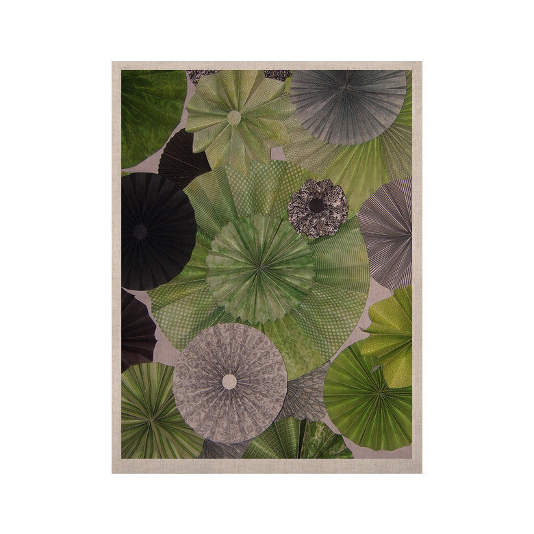 "Heidi Jennings ""Serenity"" Green Grey KESS Naturals Canvas (Frame not Included) - KESS InHouse  - 1"