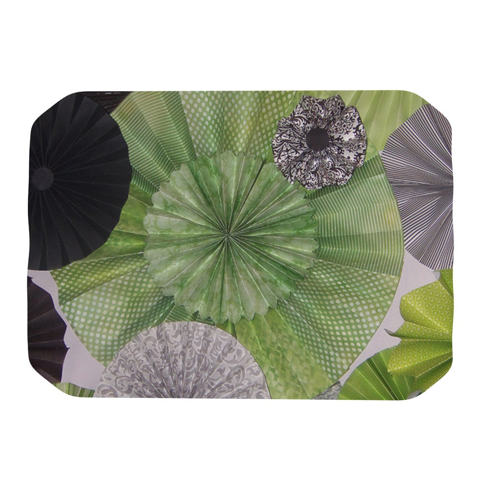 "Heidi Jennings ""Serenity"" Green Grey Place Mat - KESS InHouse"