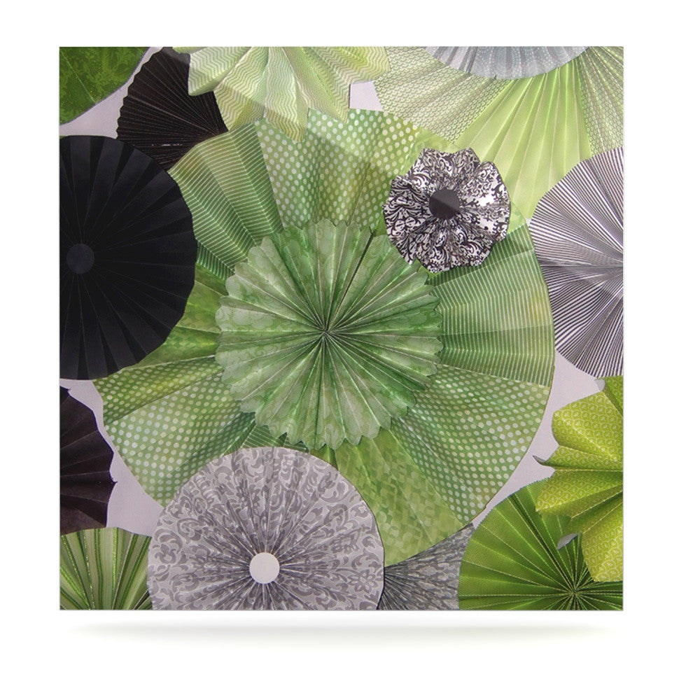 "Heidi Jennings ""Serenity"" Green Grey Luxe Square Panel - KESS InHouse  - 1"
