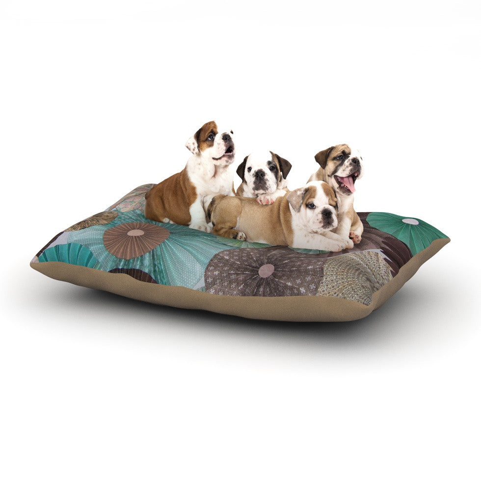 "Heidi Jennings ""Atlantis"" Teal Brown Dog Bed - KESS InHouse  - 1"