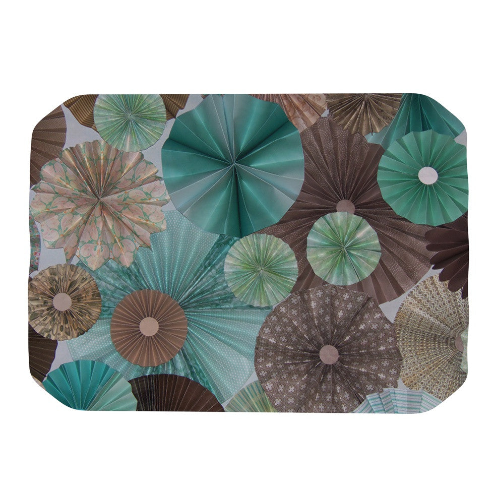 "Heidi Jennings ""Atlantis"" Teal Brown Place Mat - KESS InHouse"