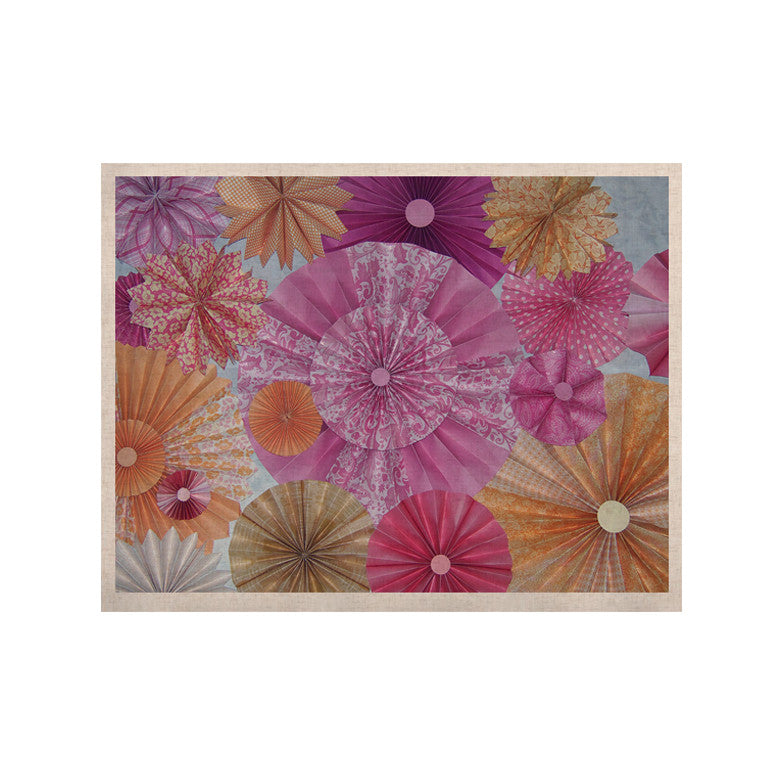 "Heidi Jennings ""Blossoming"" Pink Orange KESS Naturals Canvas (Frame not Included) - KESS InHouse  - 1"