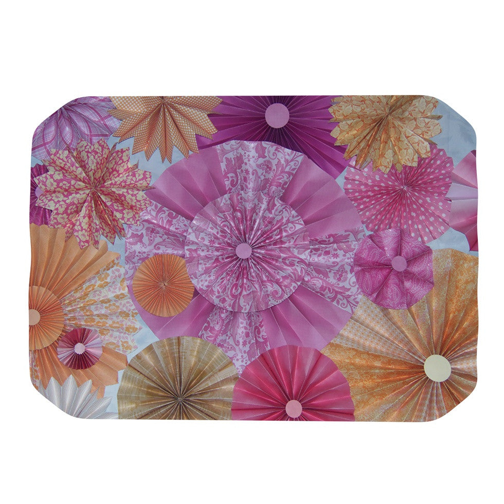 "Heidi Jennings ""Blossoming"" Pink Orange Place Mat - KESS InHouse"