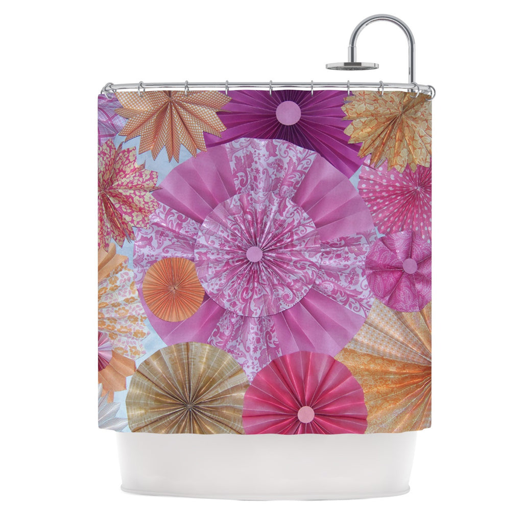"Heidi Jennings ""Blossoming"" Pink Orange Shower Curtain - KESS InHouse"