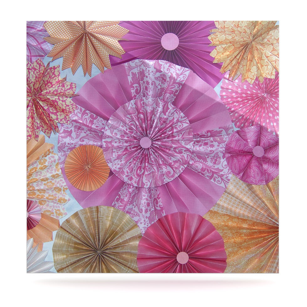 "Heidi Jennings ""Blossoming"" Pink Orange Luxe Square Panel - KESS InHouse  - 1"