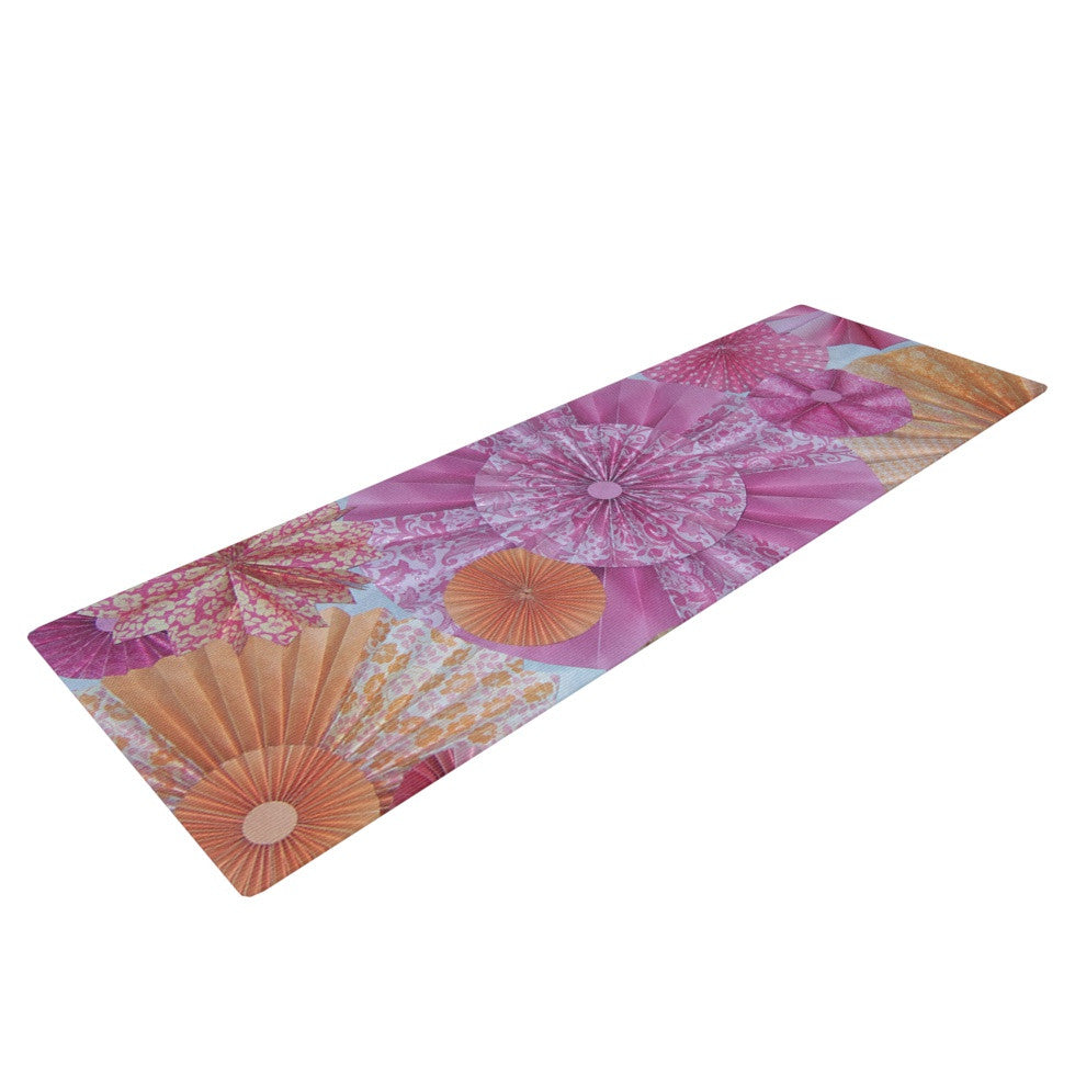 "Heidi Jennings ""Blossoming"" Pink Orange Yoga Mat - KESS InHouse  - 1"