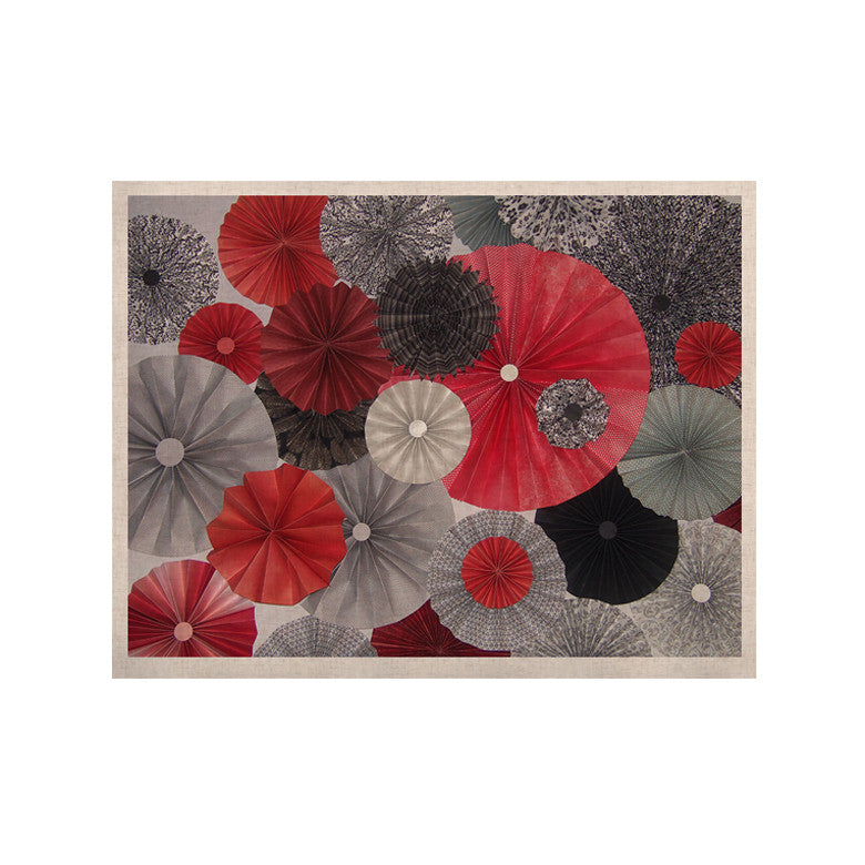 "Heidi Jennings ""Kyoto"" Red Black KESS Naturals Canvas (Frame not Included) - KESS InHouse  - 1"