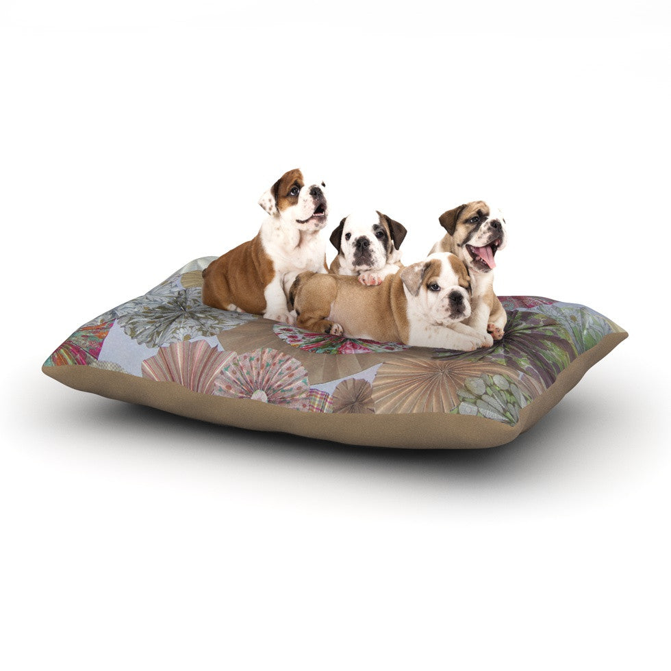 "Heidi Jennings ""Pink Lady"" Neutral Brown Dog Bed - KESS InHouse  - 1"