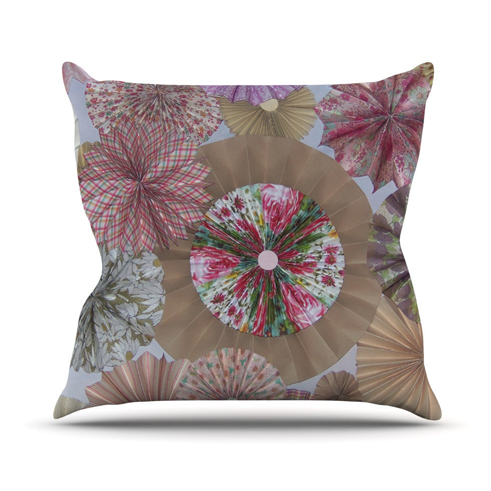 "Heidi Jennings ""Pink Lady"" Neutral Brown Throw Pillow - KESS InHouse  - 1"