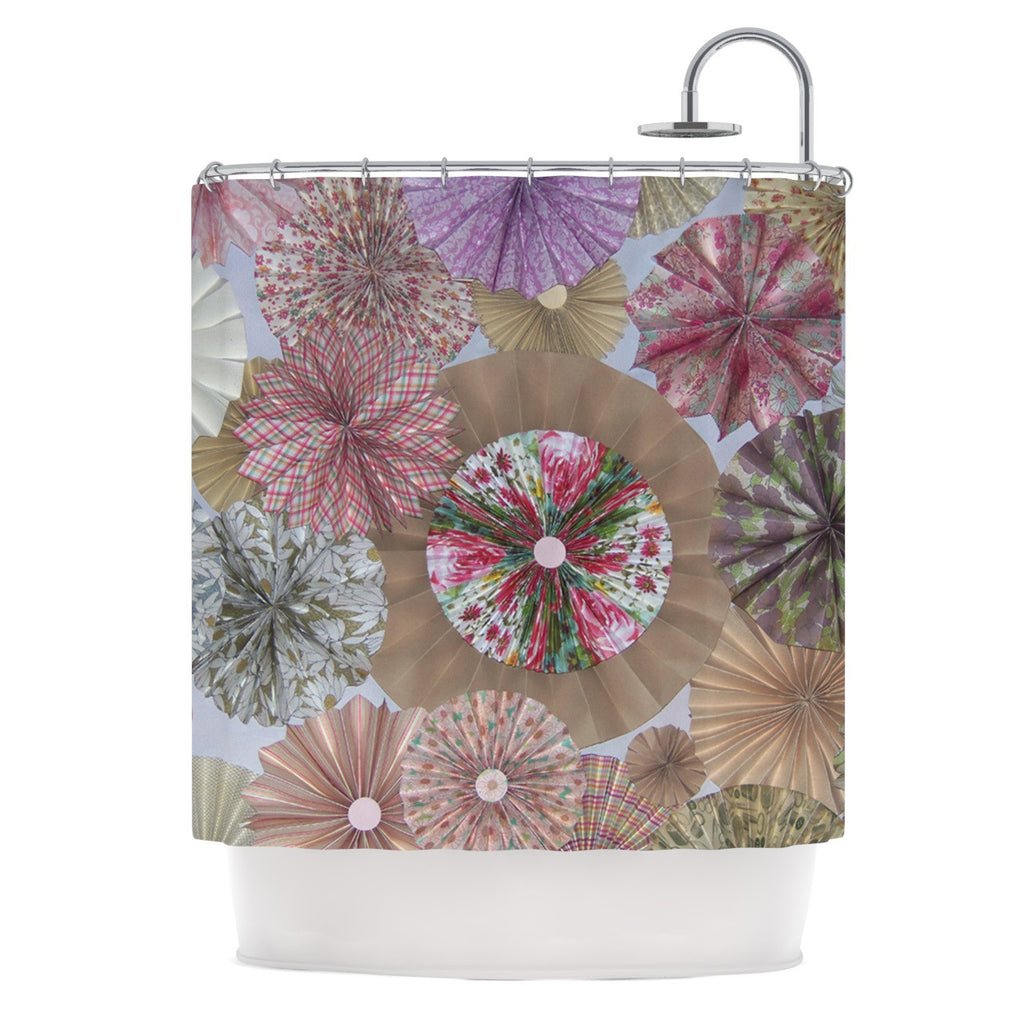 "Heidi Jennings ""Pink Lady"" Neutral Brown Shower Curtain - KESS InHouse"