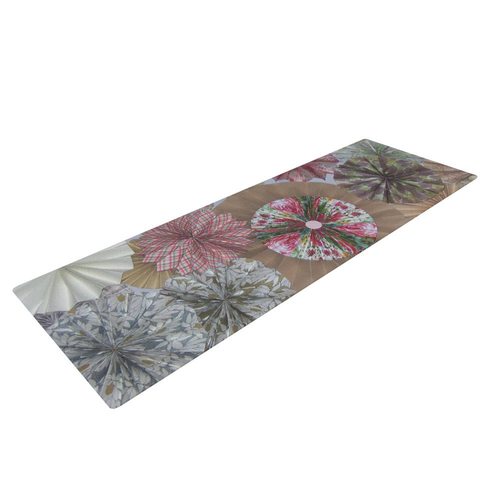 "Heidi Jennings ""Pink Lady"" Neutral Brown Yoga Mat - KESS InHouse  - 1"