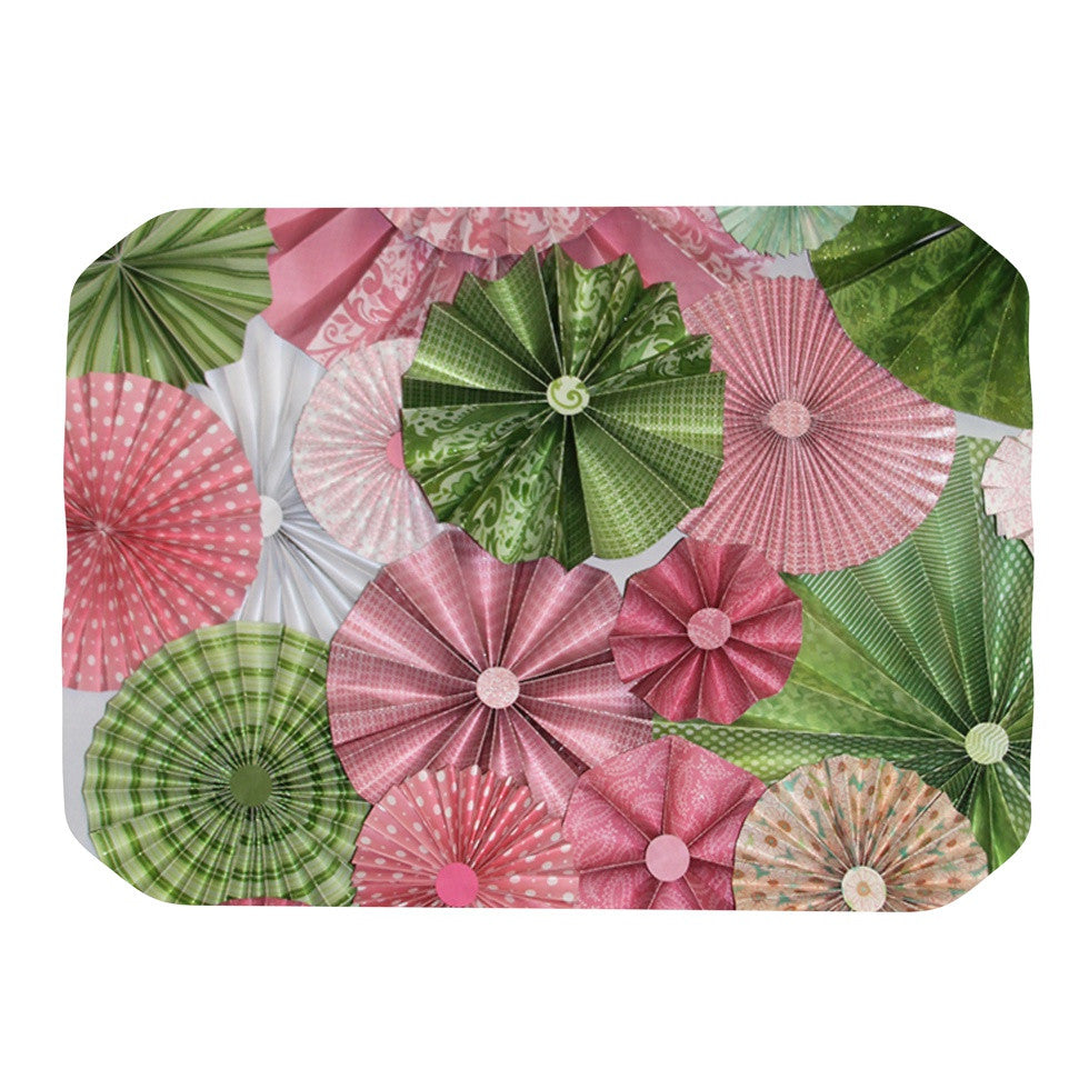 "Heidi Jennings ""My Secret Fairytale"" Pink Green Place Mat - KESS InHouse"