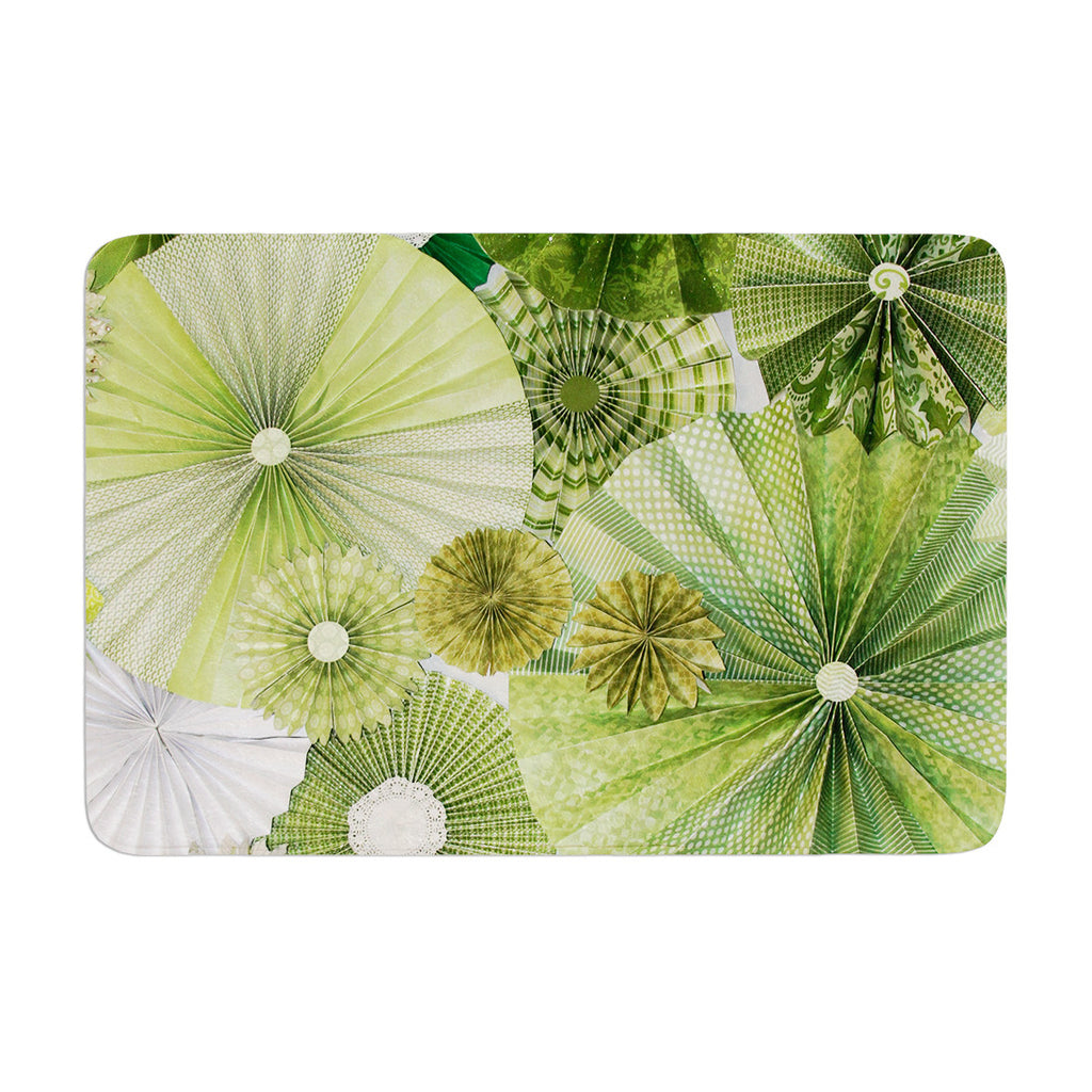 "Heidi Jennings ""Green Thumb"" Lime Memory Foam Bath Mat - KESS InHouse"