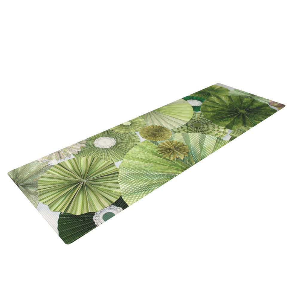 "Heidi Jennings ""Green Thumb"" Lime Yoga Mat - KESS InHouse  - 1"