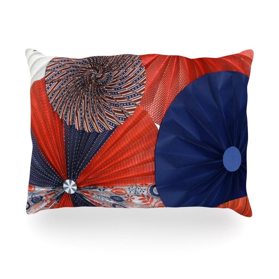 "Heidi Jennings ""Liberty"" Red Blue Oblong Pillow - KESS InHouse"