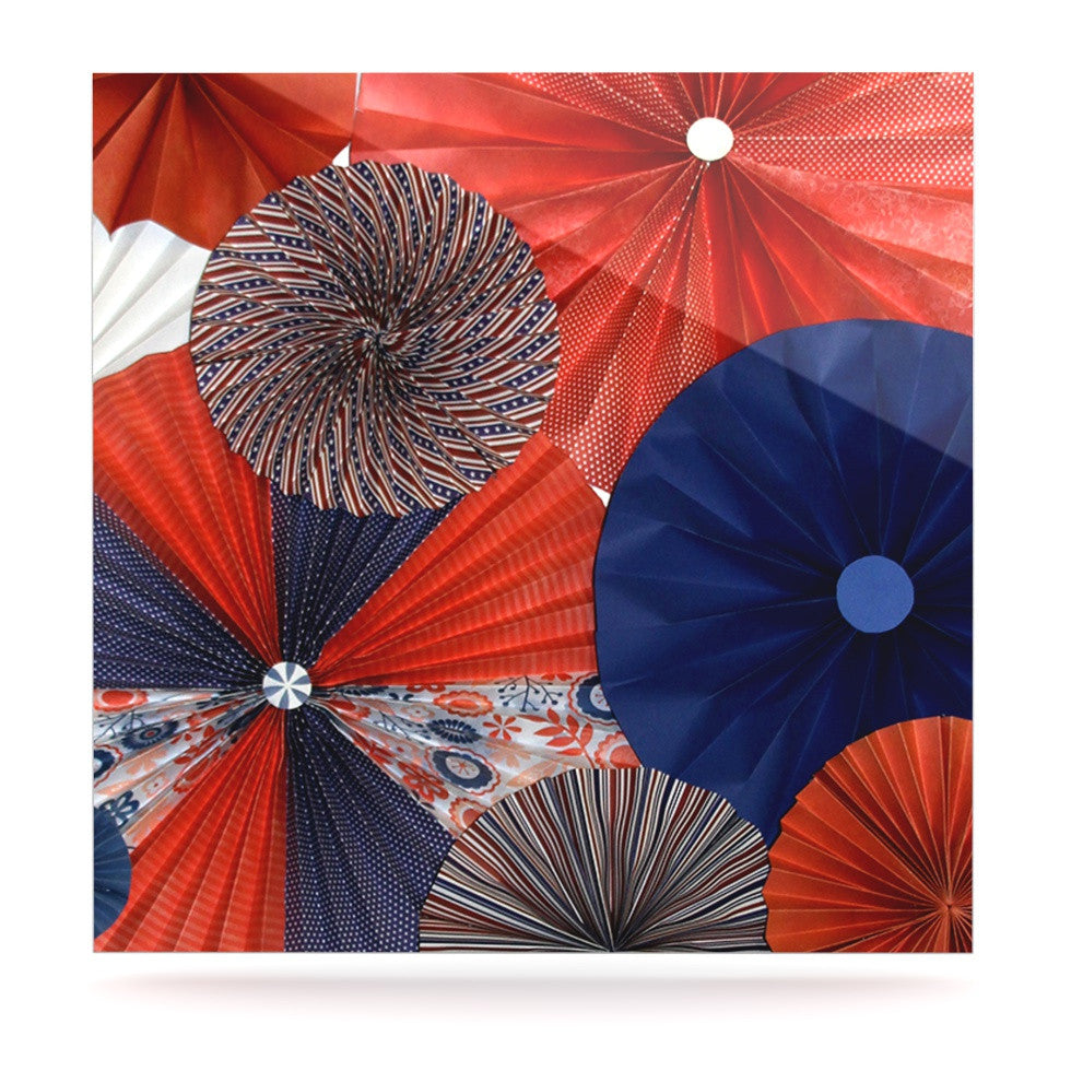 "Heidi Jennings ""Liberty"" Red Blue Luxe Square Panel - KESS InHouse  - 1"