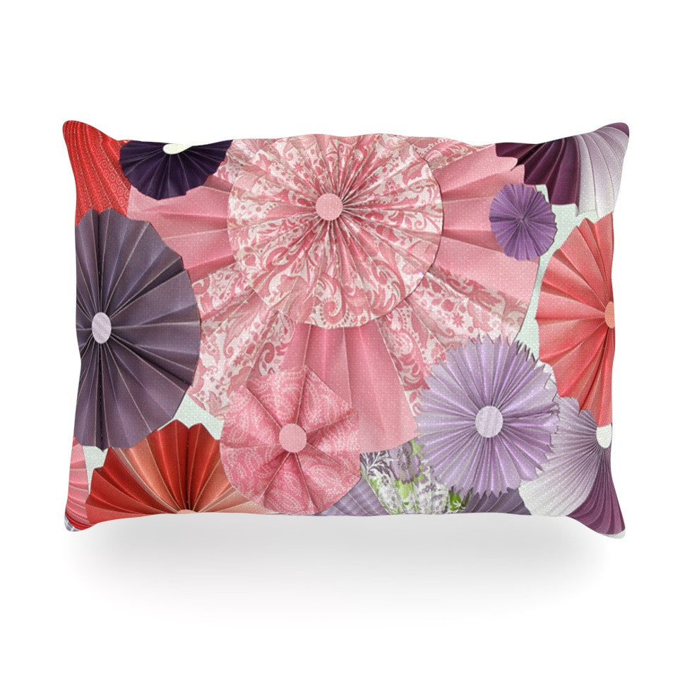 "Heidi Jennings ""The Royal Court"" Pink Purple Oblong Pillow - KESS InHouse"
