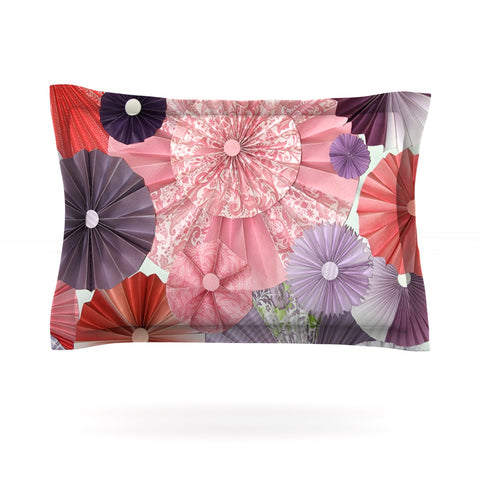 "Heidi Jennings ""The Royal Court"" Pink Purple Pillow Sham - Outlet Item"