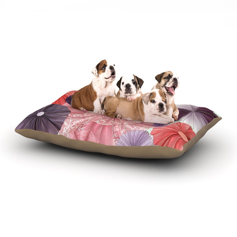 "Heidi Jennings ""The Royal Court"" Pink Purple Dog Bed - KESS InHouse  - 1"
