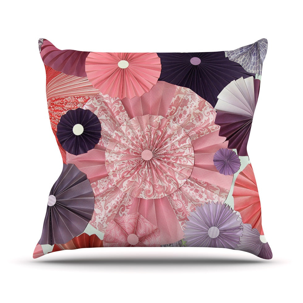 "Heidi Jennings ""The Royal Court"" Pink Purple Outdoor Throw Pillow - KESS InHouse  - 1"