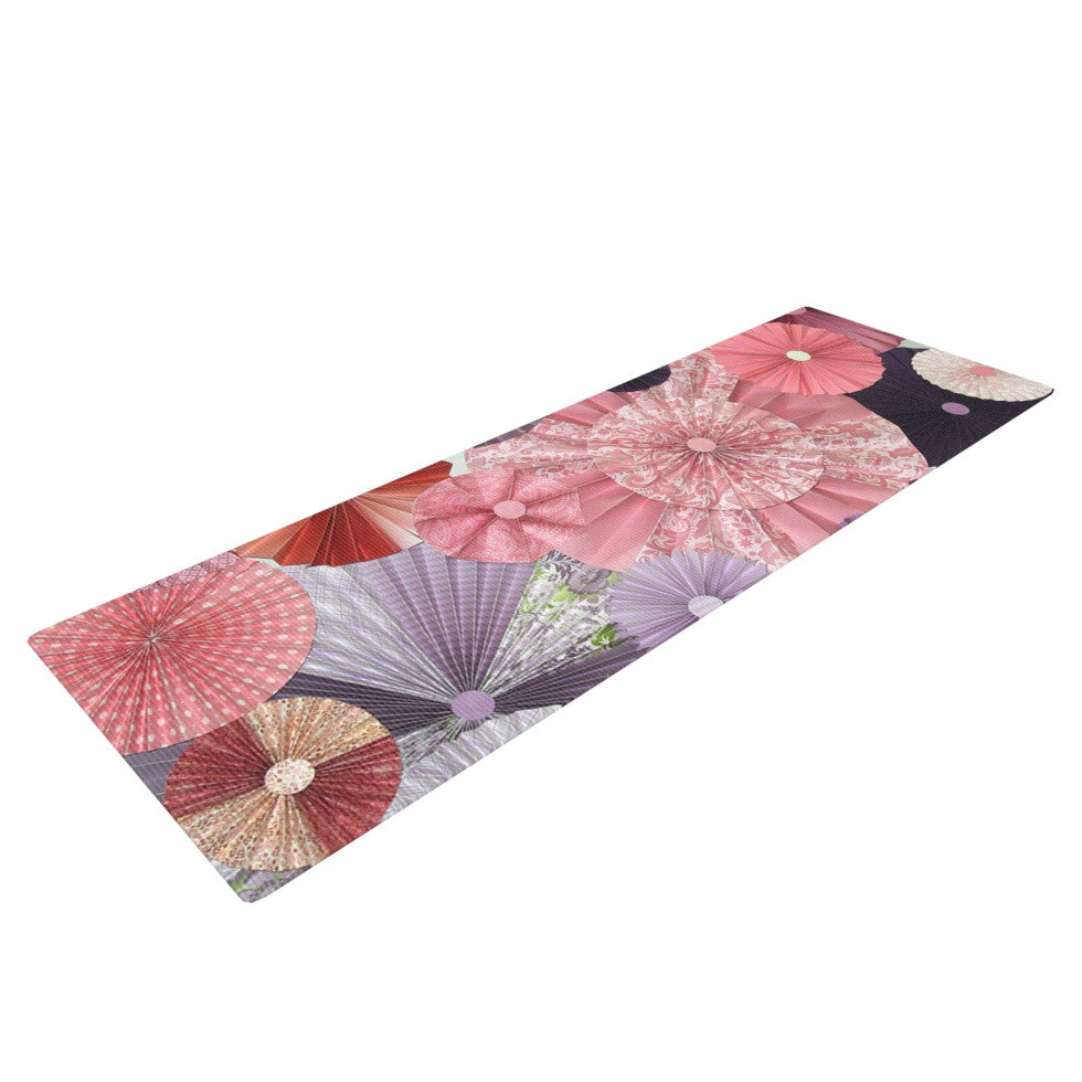 "Heidi Jennings ""The Royal Court"" Pink Purple Yoga Mat - KESS InHouse  - 1"