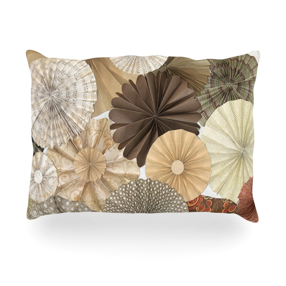 "Heidi Jennings ""Dusty Road"" Brown Tan Oblong Pillow - KESS InHouse"