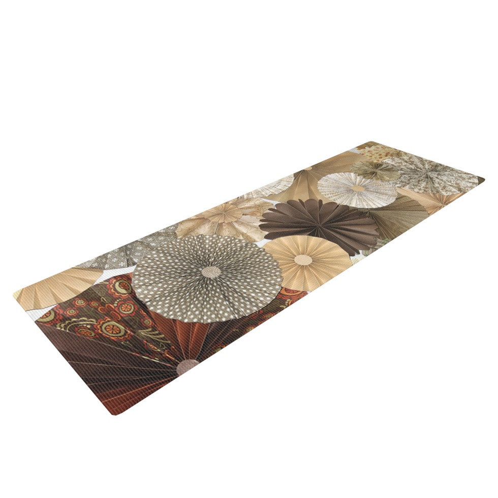 "Heidi Jennings ""Dusty Road"" Brown Tan Yoga Mat - KESS InHouse  - 1"