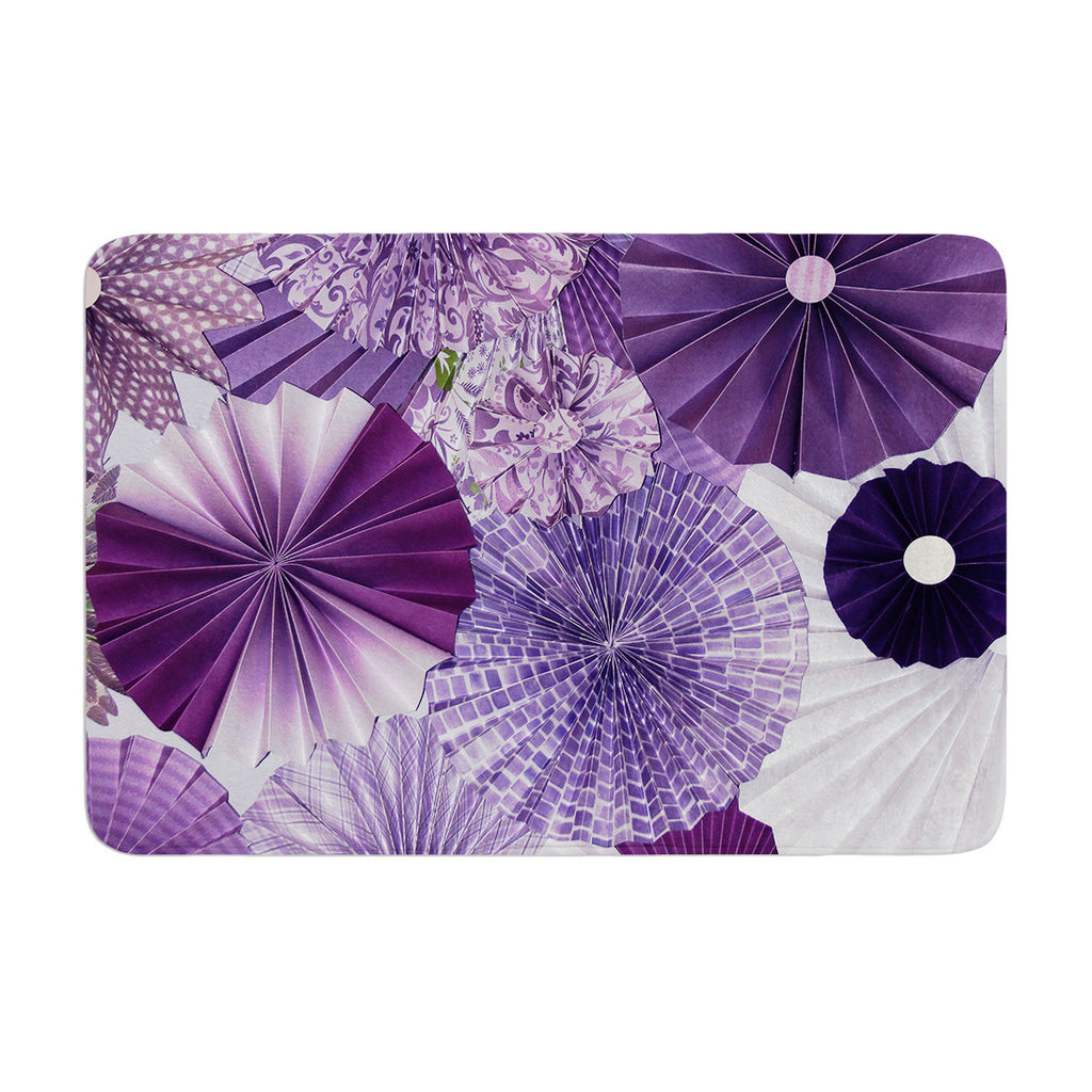 "Heidi Jennings ""Lavender Wishes"" Purple Memory Foam Bath Mat - KESS InHouse"