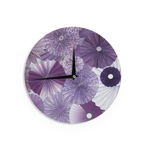 "Heidi Jennings ""Lavender Wishes"" Purple Wall Clock - Outlet Item"