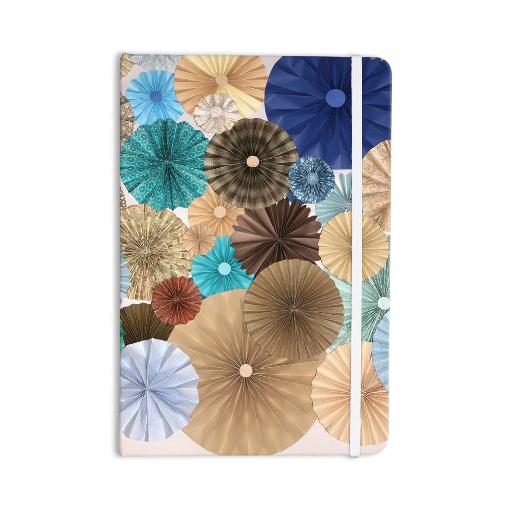 "Heidi Jennings ""Day At The Beach"" Tan Aqua Everything Notebook - KESS InHouse  - 1"