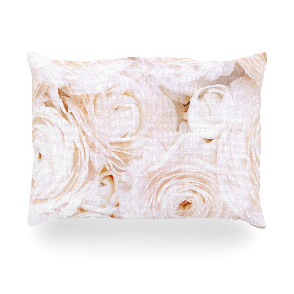 "Heidi Jennings ""Blessed"" Rose Oblong Pillow - KESS InHouse"
