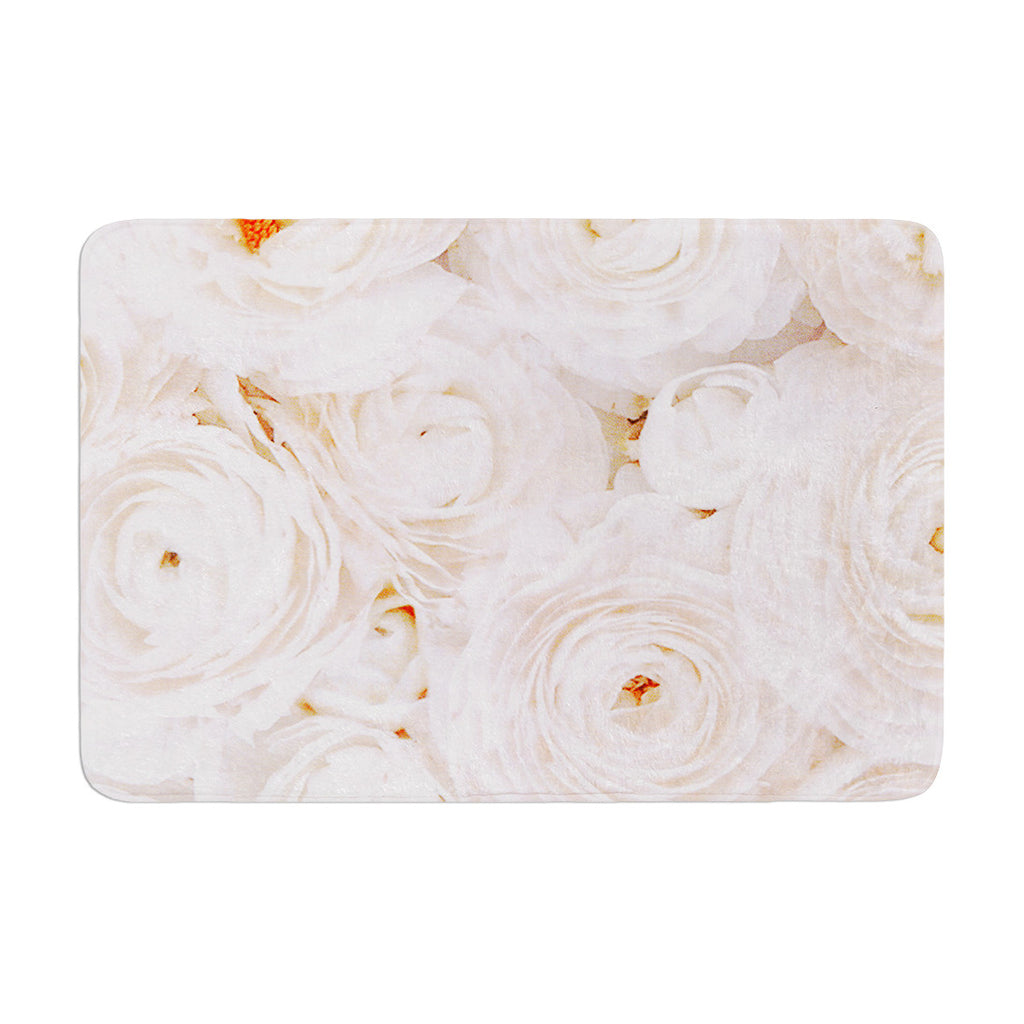 "Heidi Jennings ""Blessed"" Rose Memory Foam Bath Mat - KESS InHouse"