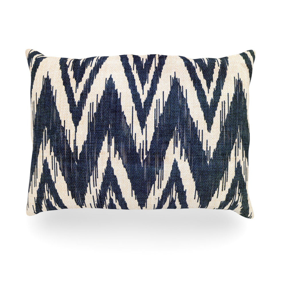"Heidi Jennings ""Tribal Chevron Black"" Oblong Pillow - KESS InHouse"