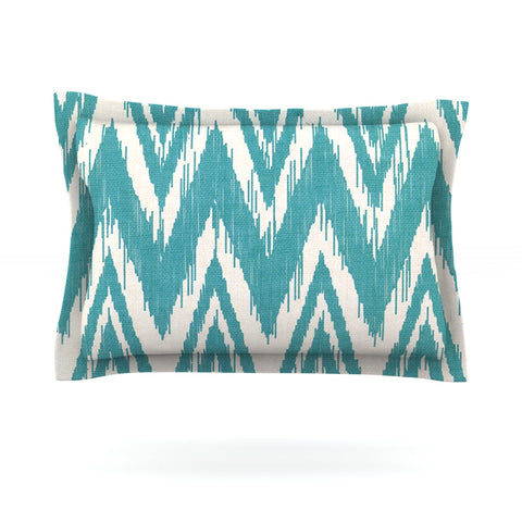 "Heidi Jennings ""Tribal Chevron Aqua"" Pillow Sham - Outlet Item"