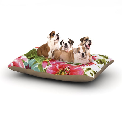 "Heidi Jennings ""Walk Through The Garden"" Pink Flowers Dog Bed - KESS InHouse  - 1"