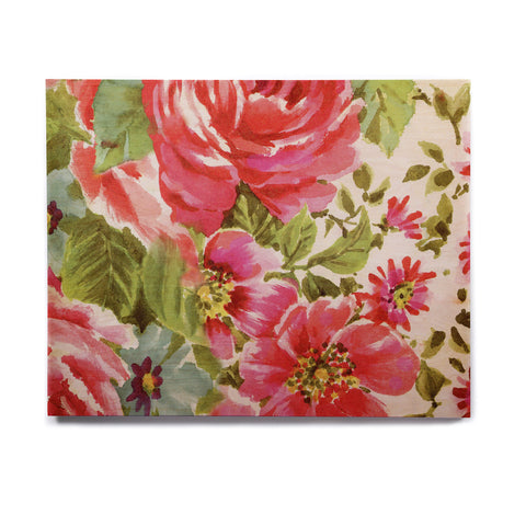 "Heidi Jennings ""Walk Through The Garden"" Pink Flowers Birchwood Wall Art - KESS InHouse  - 1"