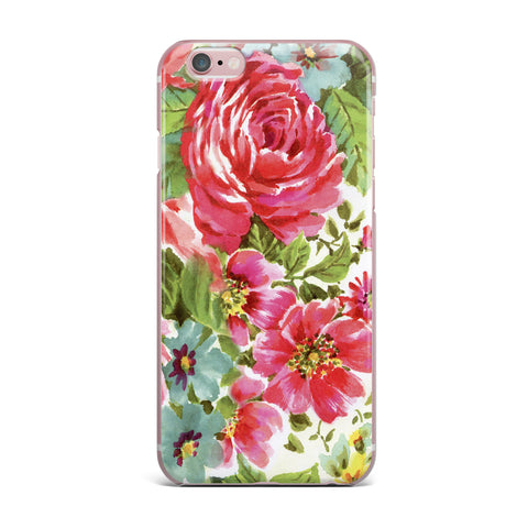 "Heidi Jennings ""Walk Through The Garden"" Pink Flowers iPhone Case - KESS InHouse"