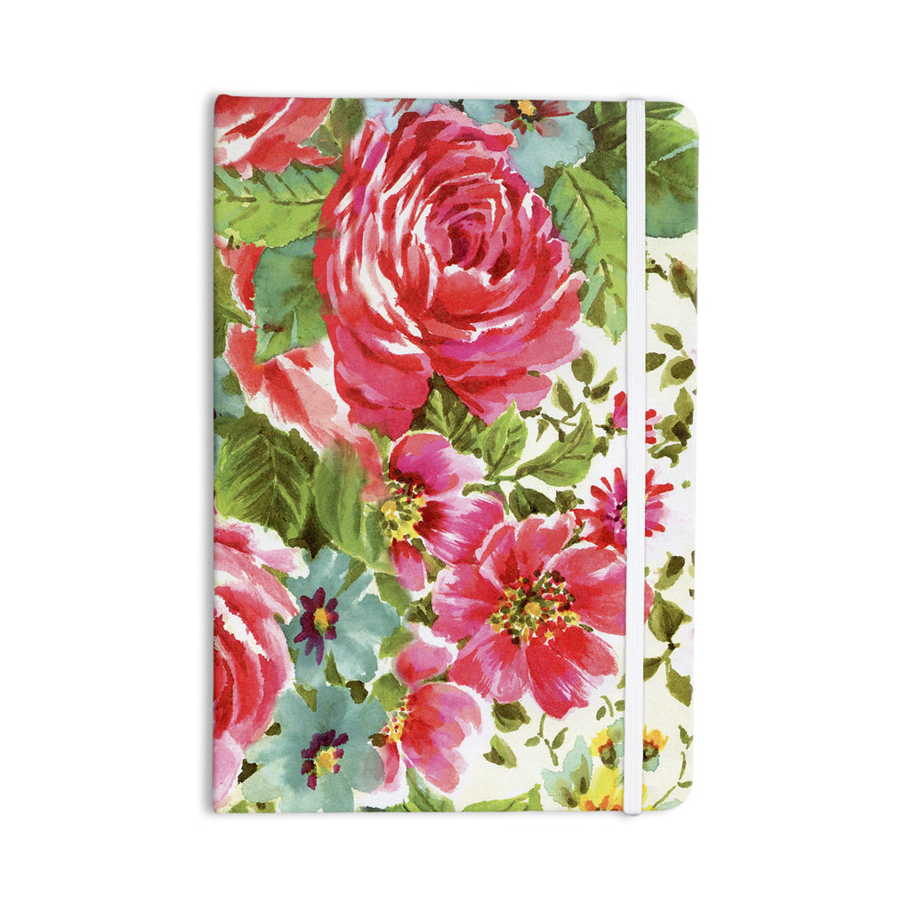 "Heidi Jennings ""Walk Through The Garden"" Pink Flowers Everything Notebook - KESS InHouse  - 1"