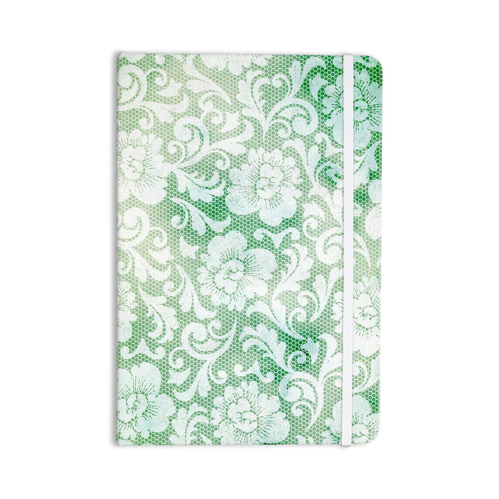 "Heidi Jennings ""Daydreaming"" Green Floral Everything Notebook - KESS InHouse  - 1"