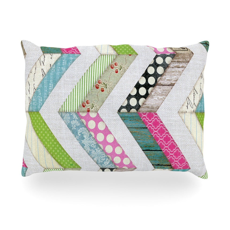 "Heidi Jennings ""Fabric Much?"" Colored Cloth Oblong Pillow - KESS InHouse"