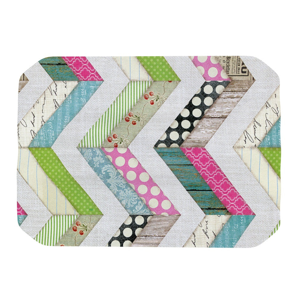 "Heidi Jennings ""Fabric Much?"" Colored Cloth Place Mat - KESS InHouse"