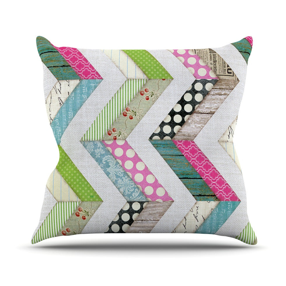 "Heidi Jennings ""Fabric Much?"" Colored Cloth Outdoor Throw Pillow - KESS InHouse  - 1"