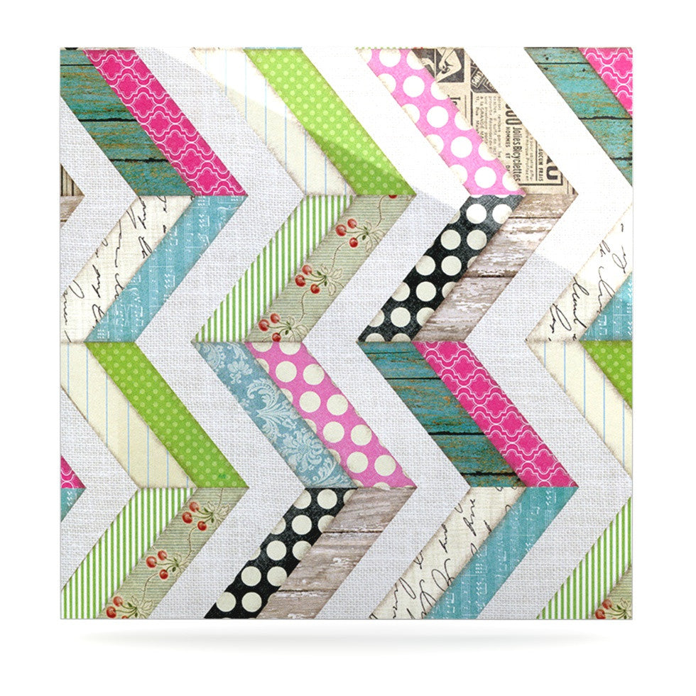 "Heidi Jennings ""Fabric Much?"" Colored Cloth Luxe Square Panel - KESS InHouse  - 1"