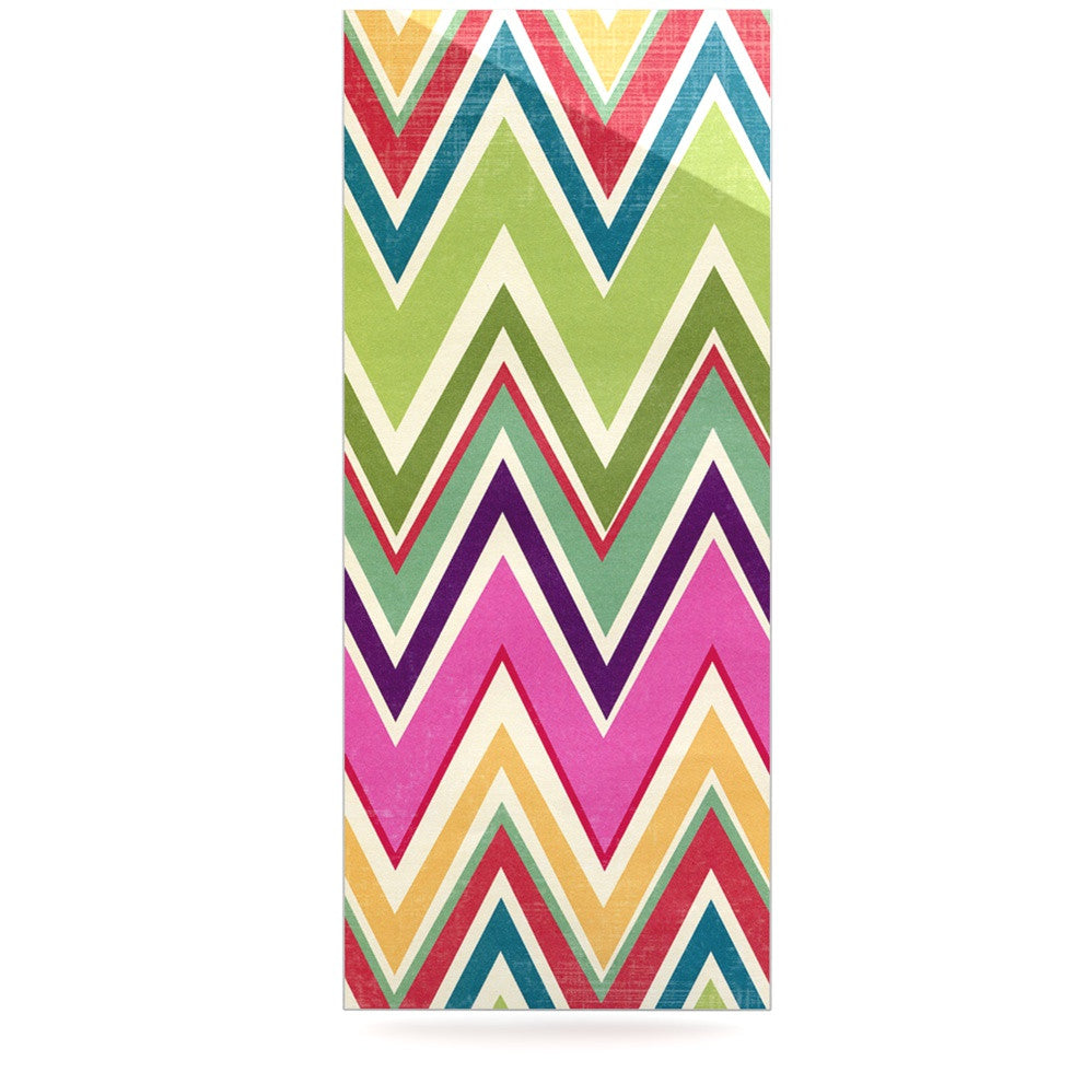 "Heidi Jennings ""Clash Of Color"" Rainbow Chevron Luxe Rectangle Panel - KESS InHouse  - 1"
